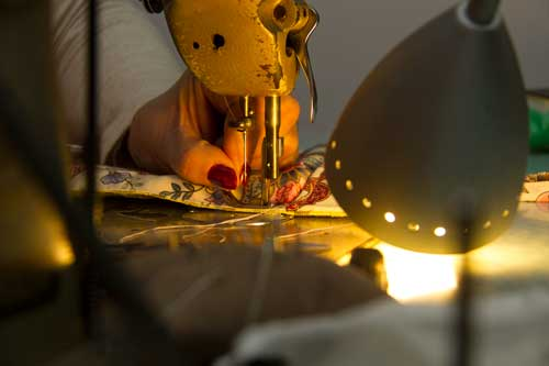 Artista Amalia Vaz na Ideias com panos